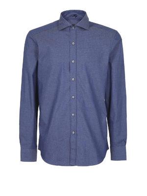 FAY: camicie - Camicia in cotone Oxford blu