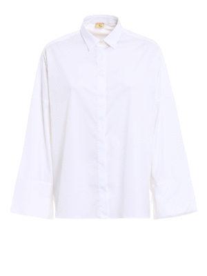 Fay: shirts - Bow detailed cotton oversized shirt