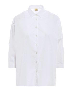 Fay: shirts - Cotton poplin boxy shirt