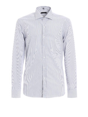 Fay: shirts - Cotton stripe patterned shirt
