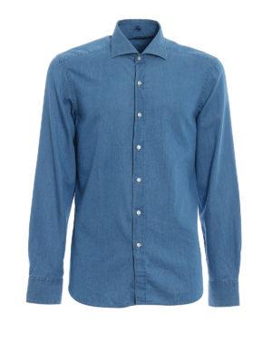 FAY: camicie - Camicia in denim lavaggio chiaro
