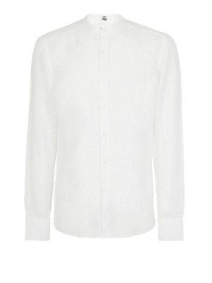 FAY: camicie - Camicia in lino collo alla coreana