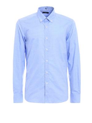Fay: shirts - Micro pattern b/d shirt