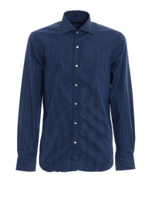 FAY: camicie - Camicia in cotone a micro pois