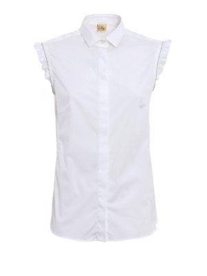 Fay: shirts - Monili frilled sleeveless shirt