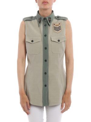 Fay: shirts online - Army style sleeveless shirt