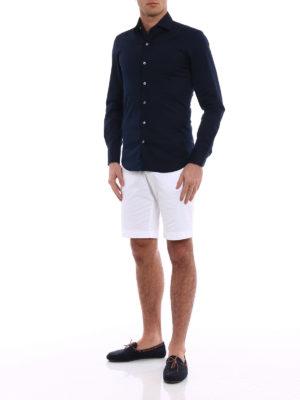 Fay: shirts online - Blue cotton classic shirt