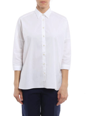 Fay: shirts online - Cotton poplin boxy shirt