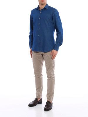 Fay: shirts online - Cutaway collar cotton shirt