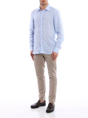 Fay: shirts online - Jacquard linen shirt