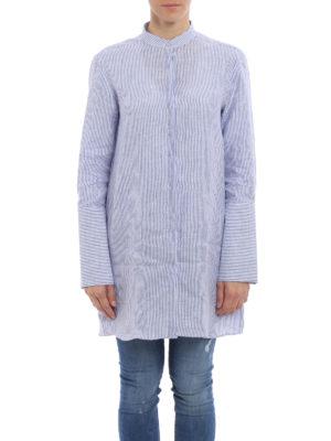Fay: shirts online - Linen shirt with maxi cuffs