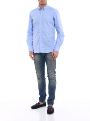 Fay: shirts online - Micro pattern b/d shirt