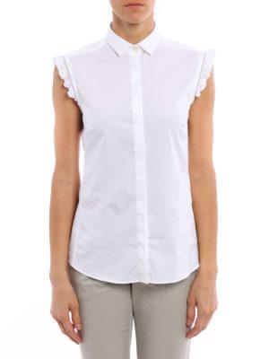 Fay: shirts online - Monili frilled sleeveless shirt