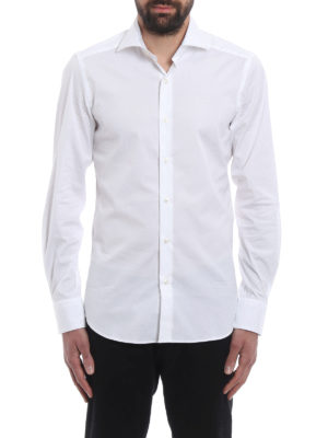 Fay: shirts online - Stretch poplin cotton shirt