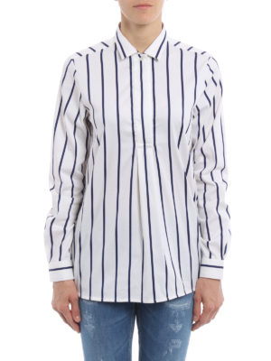 Fay: shirts online - Striped cotton blend over shirt