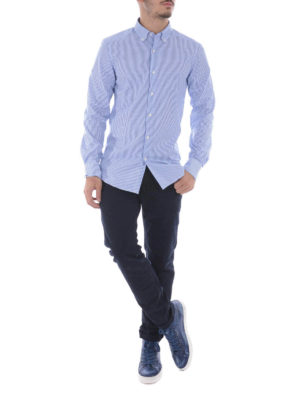Fay: shirts online - Striped cotton button/down shirt