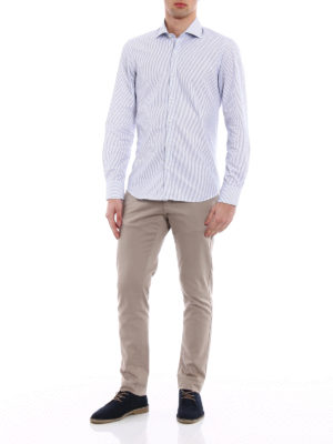 Fay: shirts online - Striped cotton fitted shirt