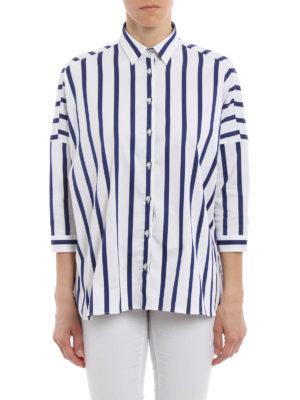 Fay: shirts online - Striped twill boxy shirt