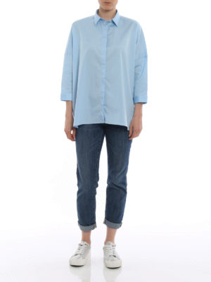 Fay: shirts online - Three-quarter sleeve boxy shirt
