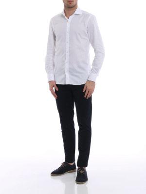Fay: shirts online - White cotton gauze shirt