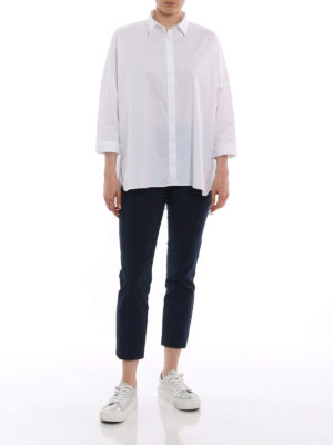 Fay: shirts online - White cotton oversize shirt