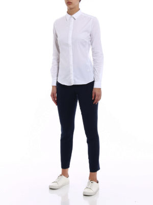 Fay: shirts online - White cotton shirt with darts