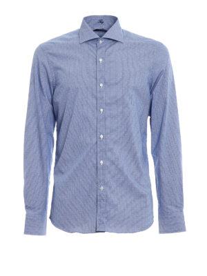 FAY: camicie - Camicia in cotone motivo a pois