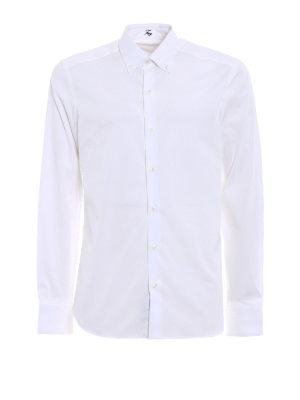 Fay: shirts - Solid colour b/d shirt