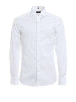 Fay: shirts - Stretch poplin cotton shirt