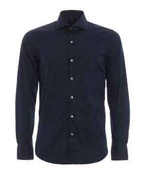Fay: shirts - Stretch poplin cotton shirt