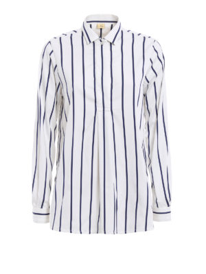 Fay: shirts - Striped cotton blend over shirt