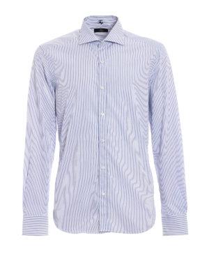 Fay: shirts - Striped cotton fitted shirt