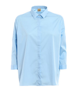Fay: shirts - Three-quarter sleeve boxy shirt