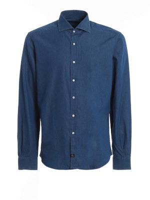 FAY: shirts - Washed denim shirt