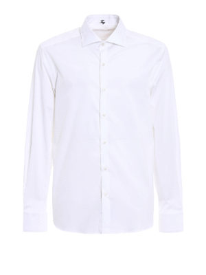 Fay: shirts - White cotton classic shirt