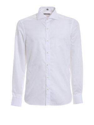 Fay: shirts - White cotton gauze shirt