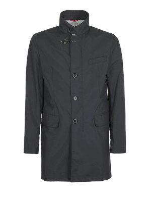 FAY: cappotti corti - Impermeabile dritto blu