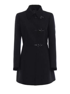 FAY: cappotti corti - Cappotto in misto lana con polsi in velluto