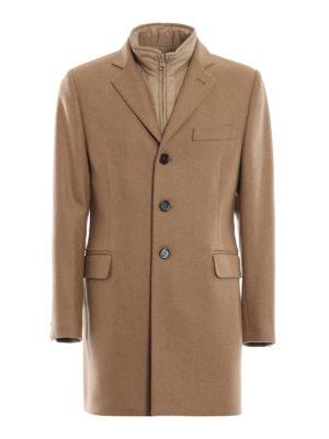 FAY: cappotti corti - Cappotto in calda lana e cashmere con gilet