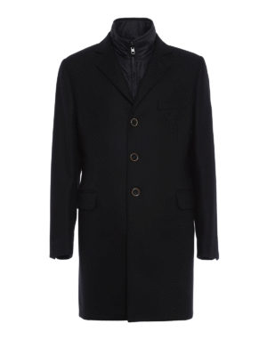 Fay: short coats - Detachable vest detailed coat