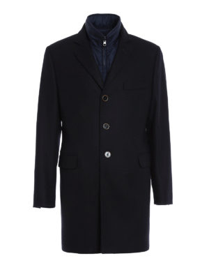 Fay: short coats - Detachable vest detailed coat