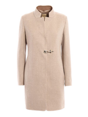 Fay: short coats - Double cashmere wool coat with vest