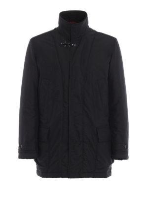 FAY: cappotti corti - Cappottino nero double front e imbottitura