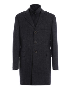 Fay: short coats - Herringbone double coat