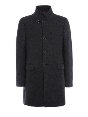 Fay: short coats - Melange virgin wool coat