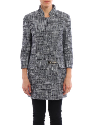 Fay: short coats online - Cotton tweed coat