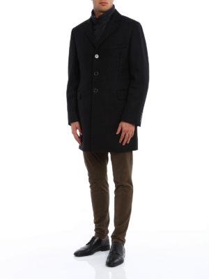 Fay: short coats online - Detachable vest detailed coat