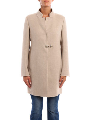 Fay: short coats online - Double cashmere wool coat with vest