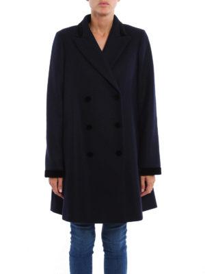 Fay: short coats online - Elegant velvet details short coat