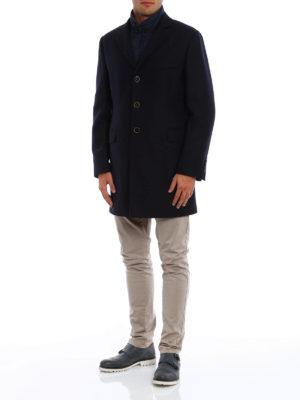 Fay: short coats online - Herringbone double coat